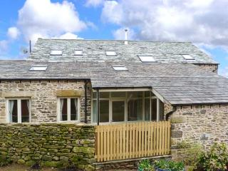 HAWKRIGG COTTAGE, on working dairy farm, off road parking, patio, in Kirkby Lons