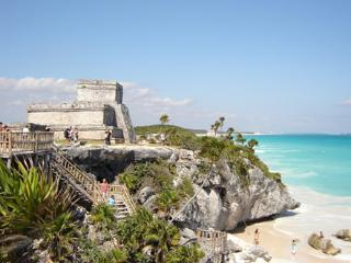 The ruins on the most beautiful beach