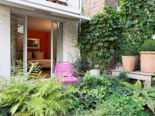 Deck from garden