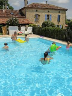 The large pool,a real suntrap. Fun for all.