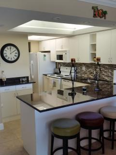 View of kitchen and breakfast bar