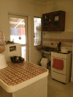 Kitchen, brand new oven and fridge.