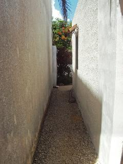 Side pathway from front to back garden.