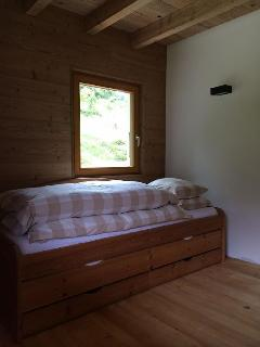 Second room with double stow away bed (main floor)