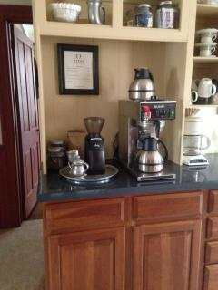 coffee station in  dining room