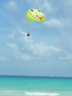 Parasail over the beautiful ocean.
