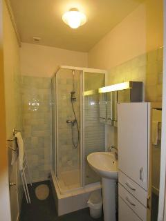 Sanet Suite Bathroom, Toilet is across the hall