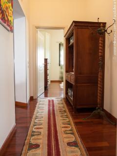 hallway and linen closet