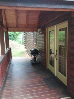 entry porch with grill