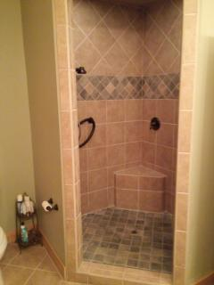 upstairs double shower