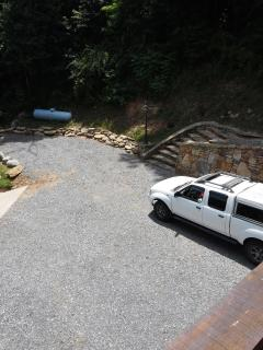 parking space at top of driveway