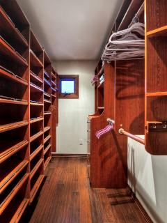 Giant Master bedroom walk-in closet.