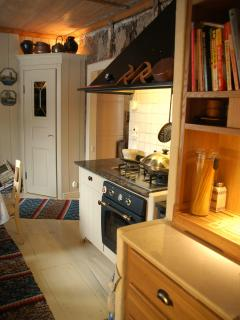 Kitchen with a gas burner