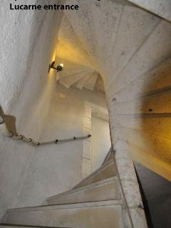 Staircase up Stone Tower to Lucarne Suite