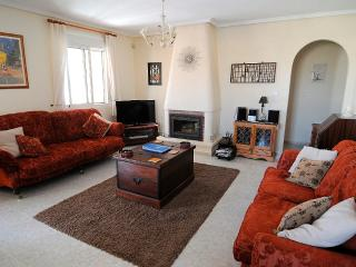 Spacious lounge with UK Freesat recorder/TV and Log burner...