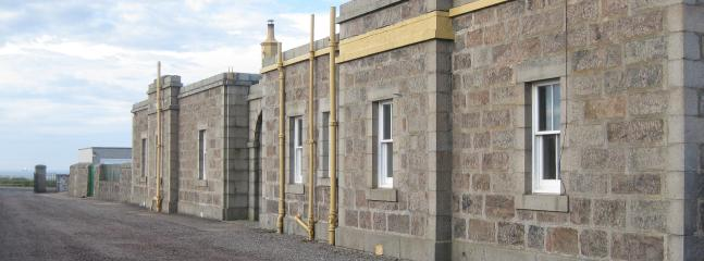 The cottages are built from locally quarried Aberdeen granite