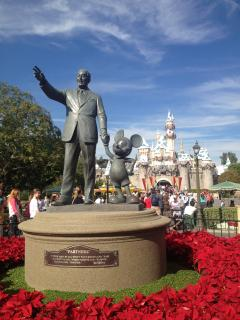 Walt Disney and Mickey Mouse welcome you to Disneyland