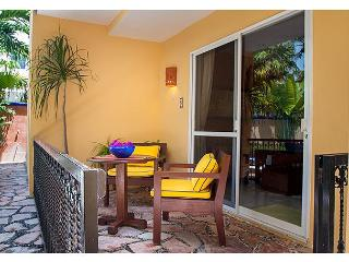 ONE BLOCK TO BEACH, APARTMENT, POOL, BBQ, OFFICE, RELAXING, QUITE, FREE WI FI, Puerto Morelos