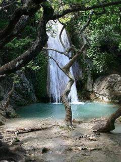 Waterfall in Neda river