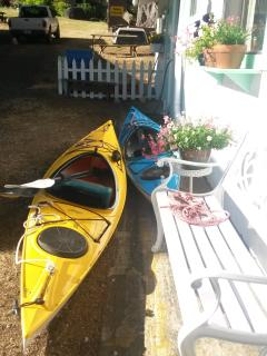 Kayaking on the Rogue and easy storage right here across the street from the boat launch