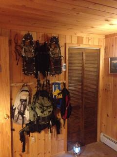 Backpacks and Snowshoes