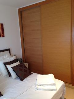 Large wardrobes in both bedrooms