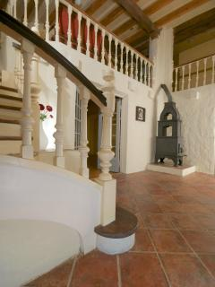 Entrance hall with feature wood burning stove