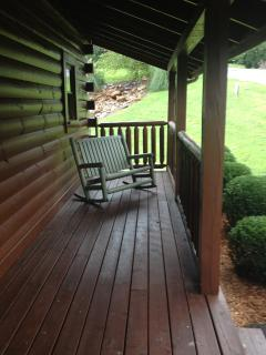 Relax on the front covered porch