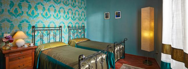 The blue room and patterned wall house 2
