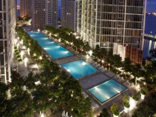 AMAZING VIEWS OF MIAMI RIVER AND PORT OF MIAMI, 1/1 IN ICON-VICEROY IN BRICKELL!!!, Miami