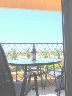 have a bottle of wine or breakfast on the balcony