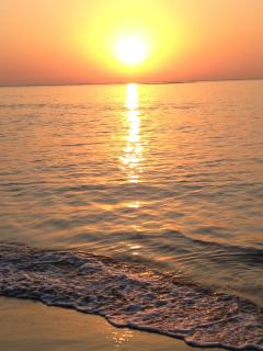 sunset at Caesarea beach