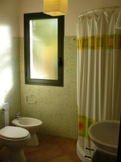 bagno con doccia e bidet
