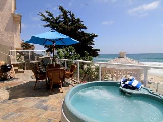 private spa on your oceanfront patio, beach views!