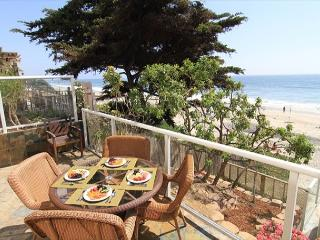 oceanfront dining area