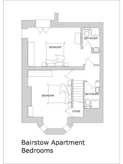 Bairstow Apartment - Bedrooms & Bathrooms Floor Plan