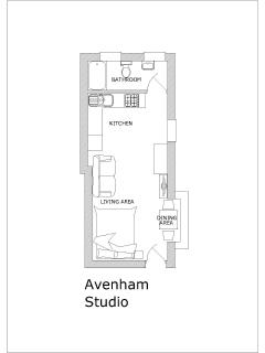 Great Avenham Studio Apartment - Floor Plan
