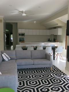 Main living area looking toward kitchen