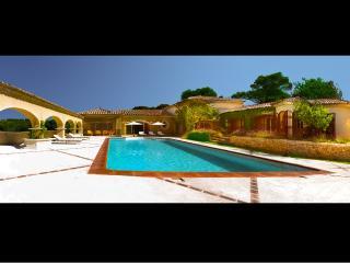 Luxe rare d'une fontaine de villa de style toscan et une piscine intérieure chauffée, Mondragon
