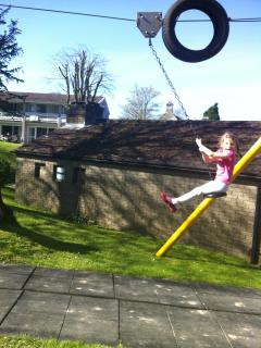 CHILDREN LOVE THE HUGE PLAY AREA -  MY OWN CHILDREN LOVE THE ZIP WIRE. LOTS OF OUTDOOR SPACE TO PLAY