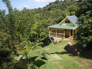 West Indies Cottage on organic farm, Trunk Bay