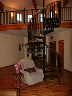 Staircase leading to the loft
