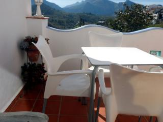 Enjoy a cool drink on the terrace and take in the panoramic views of the surrounding mountains.