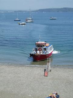 Cawsand Ferry direct to Plymouth Barbican. Embark 5 mins walk from house.