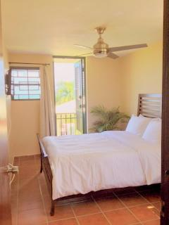 Fourth bedroom with Queen bed, air conditioning, fan, screens large closet, tv, balcony, Ocean View!
