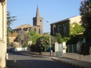 View towards the Church from the road outside our house