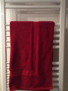 A heated towel rail in the bathroom will dry your beach and bath towels.