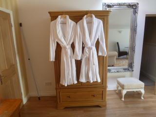 Bath robes provided for a added bit of luxury