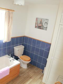 Bathroom two - first floor (rear)
