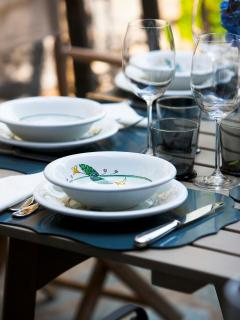 Table setting with luxury china